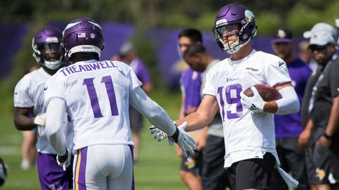 Who will rise up as the Vikings' third receiver?