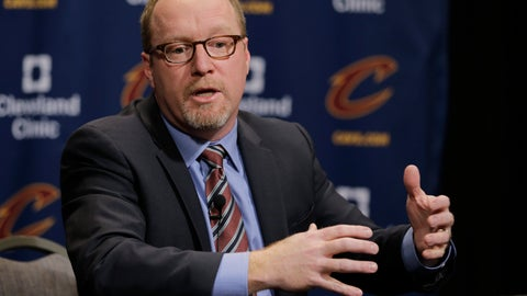 <p>               FILE - In this Thursday, Feb. 18, 2016, file photo, Former Cleveland Cavaliers general manager David Griffin speaks at a news conference before an NBA basketball game in Cleveland. Pelicans basketball operations chief David Griffin says the timing of next week's NBA draft won't necessarily raise urgency to trade disgruntled six-time All-Star Anthony Davis. The Pelicans have the first overall pick in the June 20 NBA draft and likely could acquire more high picks by dealing Davis by then.. (AP Photo/Tony Dejak, File)             </p>