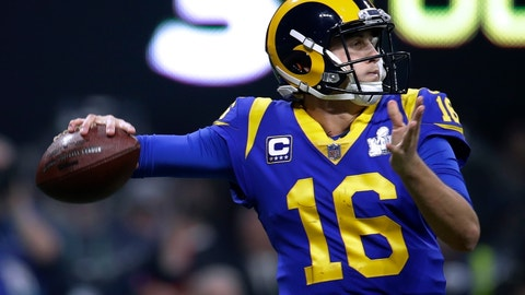<p>               FILE - In this Sunday, Feb. 3, 2019 file photo, Los Angeles Rams' Jared Goff drops back to pass against the New England Patriots during the second half of the NFL Super Bowl 53 football game in Atlanta. Goff insists he feels no urgency to reach a contract extension with the Rams heading into his fourth season with the club, even after Carson Wentz reached a big-money deal with the Philadelphia Eagles earlier in the offseason. The former No. 1 draft pick led the Rams to the Super Bowl last season. (AP Photo/Carolyn Kaster, File)             </p>