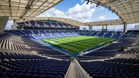 <p>               A general view of the Dragao stadium in Porto, Portugal, Tuesday, June 4, 2019. Switzerland will face Portugal Wednesday in a UEFA Nations League semifinal soccer match in Porto. (AP Photo/Luis Vieira)             </p>
