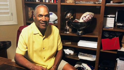 <p>               This Thursday, June 6, 2019, photo shows O.J. Simpson in his Las Vegas area home. After 25 years living under the shadow of one of the nation's most notorious murder cases, Simpson says his life now is fine. (AP Photo)             </p>
