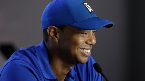<p>               Tiger Woods speaks to the media at a news conference at the U.S. Open Championship golf tournament Tuesday, June 11, 2019, in Pebble Beach, Calif. (AP Photo/Chris Carlson)             </p>