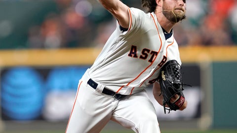 <p>               Houston Astros starting pitcher Gerrit Cole throws against the Pittsburgh Pirates during the first inning of a baseball game Tuesday, June 25, 2019, in Houston. (AP Photo/David J. Phillip)             </p>