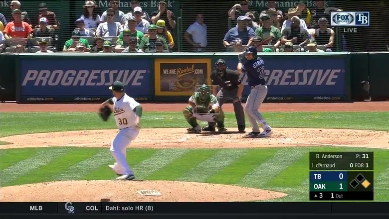 WATCH: Travis d'Arnaud, Austin Meadows power Rays past A's