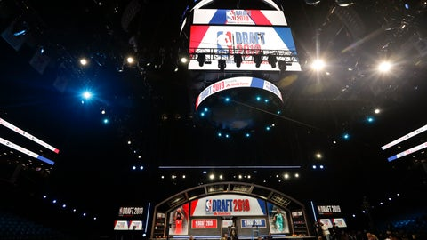 <p>               Preparations continue before the start of the NBA basketball draft, Thursday, June 20, 2019, at the Barclays Center in New York. (AP Photo/Frank Franklin II)             </p>