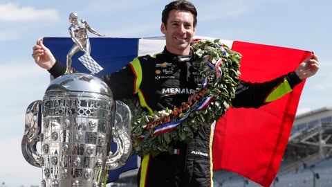 <p>               Simon Pagenaud, of France, winner of the 2019 Indianapolis 500 auto race, poses during the traditional winners photo session at the Indianapolis Motor Speedway in Indianapolis, Monday, May 27, 2019. (AP Photo/Michael Conroy)             </p>