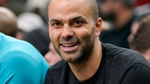 "<p>               FILE - In trhis Jan. 14, 2019, file photo, Charlotte Hornets' Tony Parker laughs on the bench during the second half of an NBA basketball game against the San Antonio Spurs, in San Antonio.  Four-time NBA champion Tony Parker has announced he's retiring after 18 seasons. The 37-year-old guard played 17 said on Twitter Monday, June 10, 2019, that it was an emotional decision and that it has been an ""incredible journey."" He played 17 seasons for the San Antonio Spurs and made the postseason every year of his career before joining the Hornets last season and missing the playoffs. He was selected to the All-Star team six times and was named second-team All-NBA three times. (AP Photo/Darren Abate)             </p>"