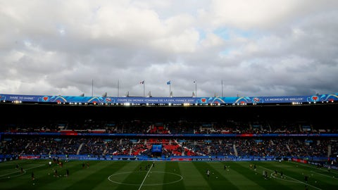 <p>               An overview of the stadium ahead of the Women's World Cup Group A soccer match between France and South Korea, at the Parc des Princes in Paris, Friday, June 7, 2019. (AP Photo/Francois Mori)             </p>
