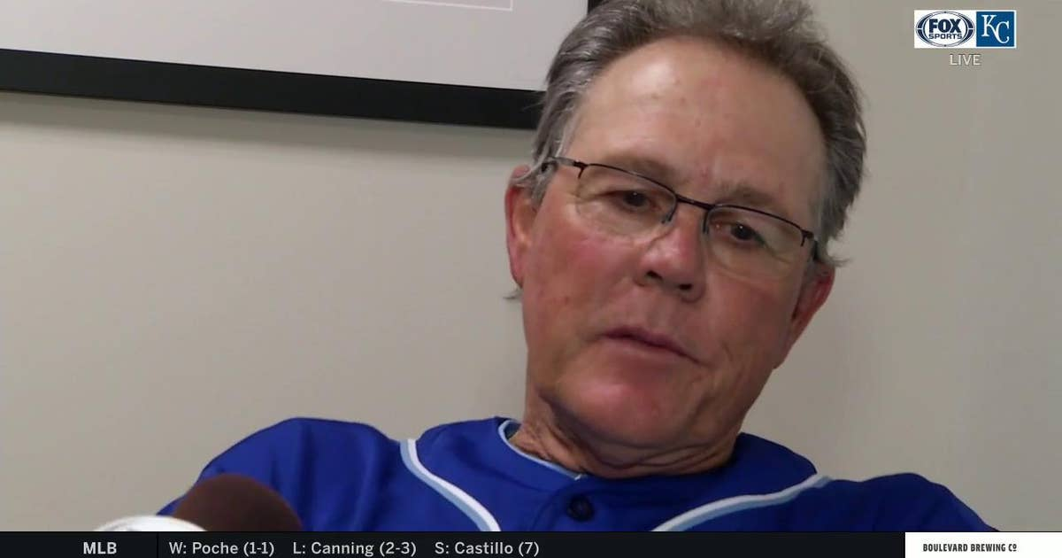 Yost after the Royals beat the Twins