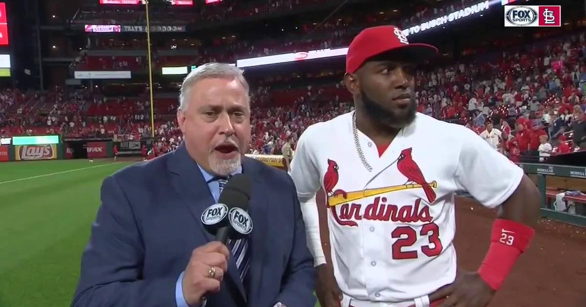 Ozuna: 'Albert Pujols is one of the best … That's an amazing guy'