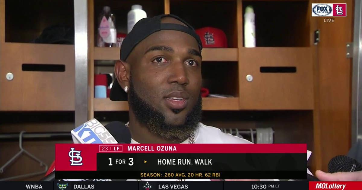 Ozuna on standing ovations for Pujols: 'I'm proud that the fans do that'