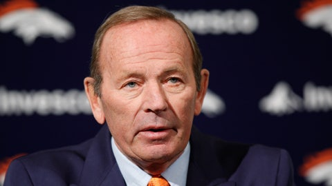 <p>               In this Jan. 5, 2011, photo, Broncos owner Pat Bowlen talks about Hall of Fame quarterback John Elway who he named Executive V.P. of football operations during a news conference at the team's headquarters in Englewood, Colo.  Bowlen, the Denver Broncos owner who transformed the team from also-rans into NFL champions and helped the league usher in billion-dollar TV deals, has died. He was 75. (AP Photo/ Ed Andrieski)             </p>
