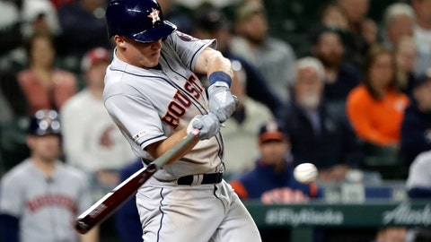 <p>               Houston Astros' Myles Straw singles in a run against the Seattle Mariners during the eighth inning of a baseball game Tuesday, June 4, 2019, in Seattle. (AP Photo/Elaine Thompson)             </p>
