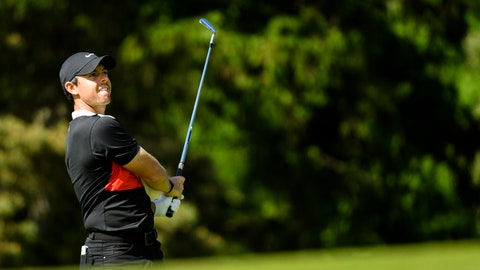 <p>               Rory McIlroy, of Northern Ireland, watches his approach shot on the 17th hole during the third round of the Canadian Open golf tournament in Ancaster, Ontario, Saturday, June 8, 2019. (Nathan Denette/The Canadian Press via AP)             </p>