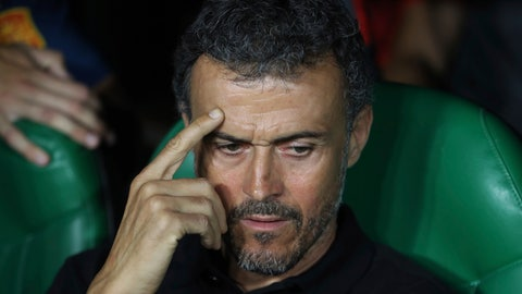 <p>               FILE - In this Oct. 15, 2018 file photo, Spain's national soccer coach Luis Enrique gestures before the UEFA Nations League soccer match between Spain and England at Benito Villamarin stadium, in Seville, Spain. Luis Enrique is stepping down as coach for the Spanish national team for personal reasons it was announced by Spanish soccer federation president Luis Rubiales on Wednesday June 19, 2019. Assistant coach Robert Moreno will take over. (AP Photo/Miguel Morenatti, File)             </p>