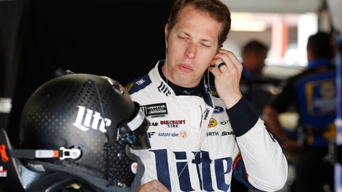 <p>               Brad Keselowski prepares for practice for a NASCAR cup series auto race at Michigan International Speedway, Friday, June 7, 2019, in Brooklyn, Mich. (AP Photo/Carlos Osorio)             </p>