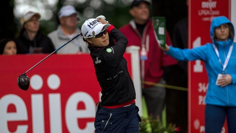 <p>               Minjee Lee, of Austrlia, tees off on the first hole during the first round of the Meijer LPGA Classic golf tournament at Blythefield Country Club on Thursday, June 13, 2019, in Belmont, Mich. (Alyssa Keown/The Grand Rapids Press via AP)             </p>