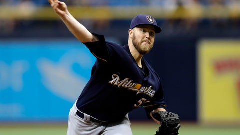 <p>               FILE - In this  Sunday, Aug. 6, 2017 file photo, Milwaukee Brewers' Jimmy Nelson pitches to the Tampa Bay Rays during the first inning of an interleague baseball game in St. Petersburg, Fla. Milwaukee Brewers right-hander Jimmy Nelson is bracing himself for an emotional return Wednesday, June 5, 2019 against the Miami Marlins. Nelson hasn't pitched in a major league game since he injured his pitching shoulder diving back to first after rounding the base on a single in September 2017. (AP Photo/Chris O'Meara, File)             </p>