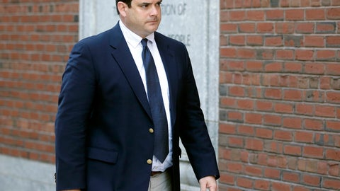 <p>               FILE - In this March 12, 2019 file photo, John Vandemoer, former head sailing coach at Stanford, arrives at federal court in Boston to plead guilty to charges in a nationwide college admissions bribery scandal. Vandemoer is scheduled to be sentenced on Wednesday, June 12, in federal court in Boston. (AP Photo/Steven Senne, File)             </p>