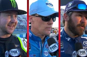 Kurt Busch, Martin Truex Jr. & Kevin Harvick comment on strong runs in Michigan