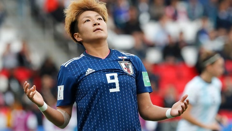 <p>               Japan's Yuika Sugasawa reacts during the Women's World Cup Group D soccer match between Argentina and Japan at the Parc des Princes in Paris, France, Monday, June 10, 2019. (AP Photo/Thibault Camus)             </p>