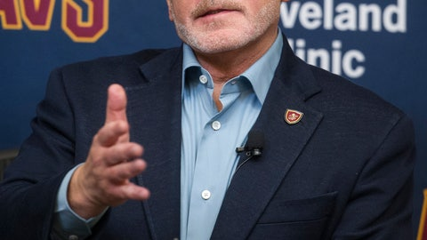 <p>               FILE - In this July 26, 2017, file photo, Cleveland Cavaliers owner Dan Gilbert answers a question during a news conference at the Cavaliers training facility in Independence, Ohio. Gilbert has been released from a Detroit-area hospital nearly a month after suffering a stroke. Quicken Loans president CEO Jay Farner says Gilbert was discharged Wednesday, June 19, 2019, from Beaumont Hospital in Royal Oak, Michigan.(AP Photo/Phil Long, File)             </p>