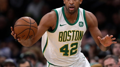 <p>               FILE - In this Jan. 16, 2019, file photo, Boston Celtics center Al Horford (42) looks to pass the ball during the first quarter of a basketball game against Toronto, in Boston. A person familiar with the decision says Celtics center Al Horford will forgo his player option for next season and become an unrestricted free agent. The source spoke on the condition of anonymity Tuesday, June 18, 2019, because the decision has not been announced. ESPN was first to report Horford's decision. (AP Photo/Charles Krupa, File)             </p>