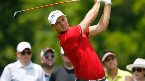 <p>               Martin Kaymer, of Germany, tees off on the third hole during the third round of the Memorial golf tournament Saturday, June 1, 2019, in Dublin, Ohio. (AP Photo/Jay LaPrete)             </p>