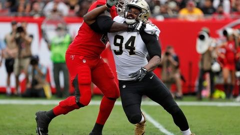 <p>               FILE - In this Dec. 9, 2018, file photo, New Orleans Saints defensive end Cameron Jordan (94) works against a Tampa Bay Buccaneers player during the first half of an NFL football game in Tampa, Fla. A person familiar with the situation says Jordan, who has been New Orleans' sack leader in six of the past seven seasons, has agreed to a three-year extension worth up to $55.5 million. The person spoke to The Associated Press on condition of anonymity on Tuesday, June 11, 2019, because the extension, which follows the two years left on his current contract and runs through 2023, is not expected to be signed until Wednesday and has not been announced. (AP Photo/Mark LoMoglio, File)             </p>