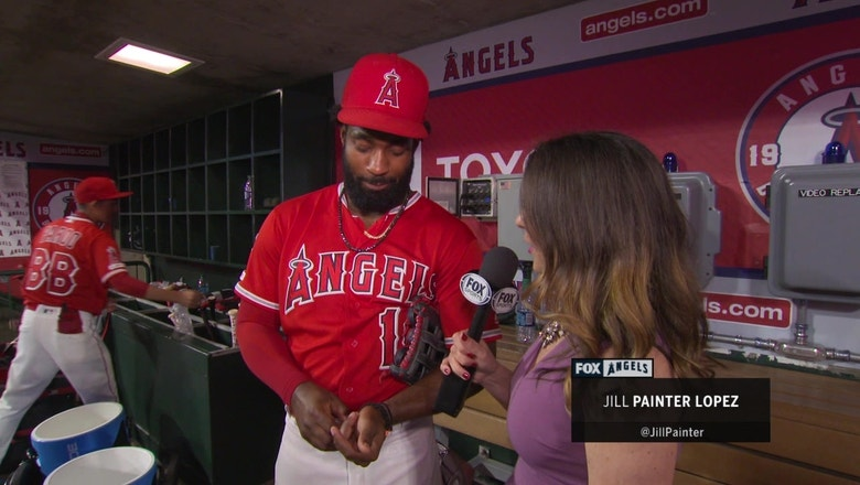 "4a8046e6437485 Goodwin on Angels recent success: ""We just grind and put our heads down and  hopefully we can keep it rolling."" 