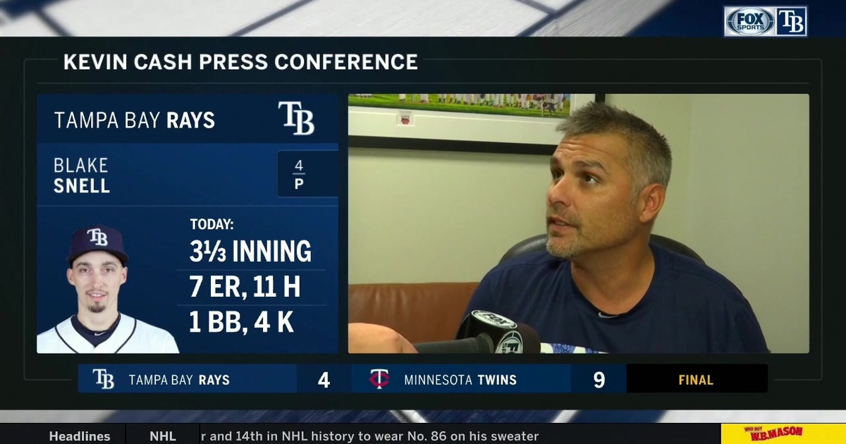 Kevin Cash breaks down Blake Snell's start after Rays' loss to high-octane Twins