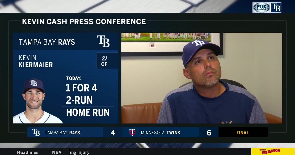 Kevin Cash breaks down frustrating loss to Twins, what Rays have to do to turn things around