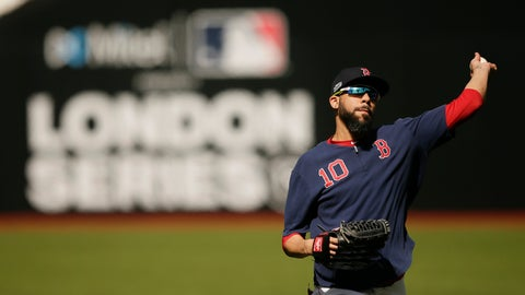 <p>               Boston Red Sox starting pitcher David Price throws during batting practice in London, Friday, June 28, 2019. Major League Baseball will make its European debut with the New York Yankees versus Boston Red Sox game at London Stadium this weekend. (AP Photo/Tim Ireland)             </p>