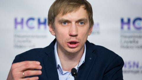 <p>               FILE - In this Tuesday, Feb. 7, 2017 file photo, Russian track federation vice president Andrei Silnov speaks during a news conference in Moscow, Russia. The Russian track federation said Wednesday June 12, 2019, that senior vice president Andrei Silnov, the 2008 Olympic gold medalist in the high jump, is facing suspension in a doping case, another blow to the country's hopes of being reinstated in time for the world championships. (AP Photo/Alexander Zemlianichenko, File)             </p>