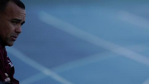 <p>               Venezuela's coach Rafael Dudamel attends a practice session in Rio de Janeiro, Brazil, Tuesday, June 25, 2019. Venezuela will face Argentina at a quarter-final Copa America soccer match, on June 28. (AP Photo/Leo Correa)             </p>