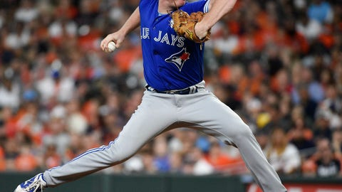 <p>               Toronto Blue Jays starting pitcher Trent Thornton delivers during the first inning of a baseball game against the Houston Astros, Sunday, June 16, 2019, in Houston. (AP Photo/Eric Christian Smith)             </p>