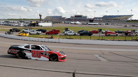 <p>               Christopher Bell races his car during a NASCAR Xfinity Series auto race, Sunday, June 16, 2019, at Iowa Speedway in Newton, Iowa. (AP Photo/Charlie Neibergall)             </p>