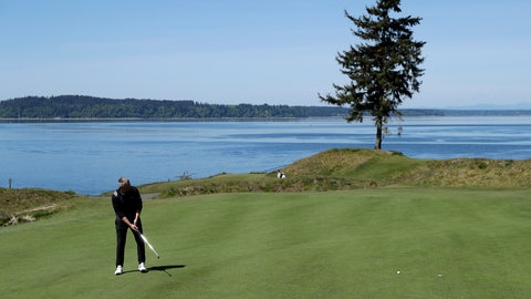 <p>               In this May 6, 2019, photo, PGA golf professional Jacob Lippold putts on the third green at Chambers Bay, in University Place, Wash. Four years removed from the U.S. Open golf championship that was largely derided for its putting green problems, Chambers Bay may have salvaged its future in the championship rotation with a massive undertaking to replace every green on the course. (AP Photo/Ted S. Warren)             </p>
