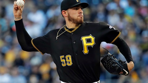 <p>               Pittsburgh Pirates starting pitcher Joe Musgrove delivers during the first inning of a baseball game against the San Diego Padres in Pittsburgh, Friday, June 21, 2019. (AP Photo/Gene J. Puskar)             </p>