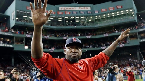 <p>               FILE - In this Oct. 10, 2016, file photo, Boston Red Sox's David Ortiz waves from the field at Fenway Park after Game 3 of baseball's American League Division Series against the Cleveland Indians in Boston. Ortiz returned to Boston for medical care after being shot in a bar Sunday, June 9, 2019, in his native Dominican Republic. (AP Photo/Charles Krupa, File)             </p>