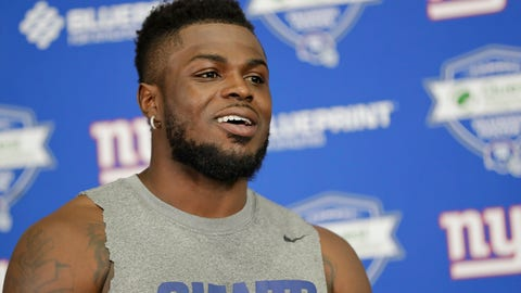 <p>               New York Giants free safety Jabrill Peppers smiles while listening to a question at a news conference during NFL football mini camp at the team's training facility Tuesday, June 4, 2019, in East Rutherford, N.J. (AP Photo/Frank Franklin II)             </p>
