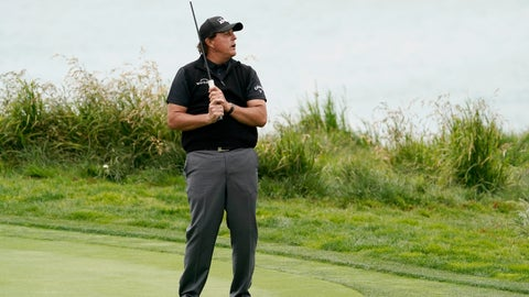 <p>               Phil Mickelson reacts after missing a putt on the ninth hole during the first round of the U.S. Open Championship golf tournament Thursday, June 13, 2019, in Pebble Beach, Calif. (AP Photo/David J. Phillip)             </p>