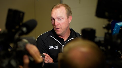 <p>               FILE - In this May 21, 2019, file photo, Nebraska coach Darin Erstad speaks to reporters following a news conference with coaches in Omaha, Neb. Erstad has resigned as Nebraska's baseball coach, saying he wants to spend more time with his family. His announcement Monday, June 3, 2019, came a day after the Cornhuskers were eliminated from the NCAA Oklahoma City regional with a 16-1 loss to Connecticut. (AP Photo/Nati Harnik, File)             </p>
