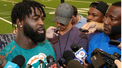 <p>               Miami Dolphins free safety Reshad Jones speaks to the news media at the team's NFL football training facility, Tuesday, June 4, 2019, in Davie, Fla. (AP Photo/Lynne Sladky)             </p>