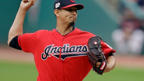 """<p>               FILE - In this May 20, 2019, file photo, Cleveland Indians starting pitcher Carlos Carrasco delivers in the first inning of a baseball game against the Oakland Athletics, in Cleveland. Carrasco has been diagnosed with a blood disorder. The team said Wednesday, June 5, 2019, that Carrasco had been feeling lethargic for several weeks. The Indians placed him on the 10-day injured list so the right-hander can """"explore the optimal treatment and recovery options.""""(AP Photo/Tony Dejak, File)             </p>"""