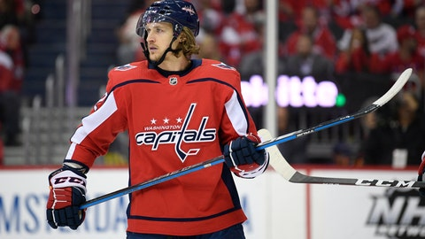 <p>               FILE - In this April 24, 2019 file photo Washington Capitals left wing Carl Hagelin (62), of Sweden, stands on the ice during the first period of Game 7 of an NHL hockey first-round playoff series against the Carolina Hurricanes in Washington. The Capitals have signed Hagelin to an $11 million, four-year deal. Hagelin counts $2.75 million against the salary cap through the 2022-23 season. General manager Brian MacLellan announced the deal Sunday, June 16, 2019. (AP Photo/Nick Wass, file)             </p>
