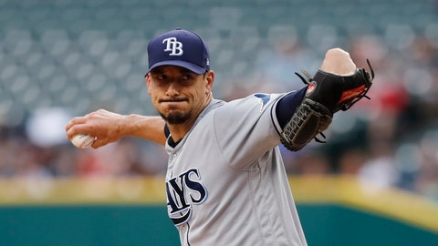 <p>               Tampa Bay Rays starting pitcher Charlie Morton throws during the first inning of the team's baseball game against the Detroit Tigers, Wednesday, June 5, 2019, in Detroit. (AP Photo/Carlos Osorio)             </p>