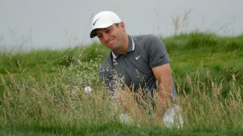 <p>               Francesco Molinari, of Italy, hits out of the bunker on the 17th hole during the second round of the U.S. Open Championship golf tournament Friday, June 14, 2019, in Pebble Beach, Calif. (AP Photo/Matt York)             </p>