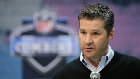"""<p>               FILE - In this Thursday, Feb. 28, 2019 file photo, Houston Texans general manager Brian Gaine speaks during a press conference at the NFL football scouting combine in Indianapolis. The Houston Texans have abruptly fired general manager Brian Gaine less than 18 months after he took the job. The team announced the move Friday, June 7, 2019 with a statement from team owner Cal McNair, who said only that """"while the timing may be unusual, this decision was made in the best interest of the organization in our quest to build a championship team."""" (AP Photo/Darron Cummings, File)             </p>"""