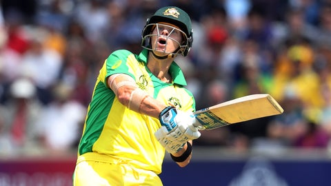 <p>               Australia's Steve Smith plays a shot during the Cricket World Cup match between Australia and West Indies at Trent Bridge in Nottingham, Thursday, June 6, 2019. (AP Photo/Rui Vieira)             </p>